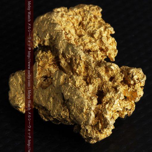 16.45gの自立する狛犬のような姿の自然金-g249-9
