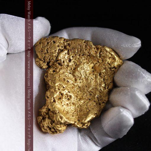 300g超えの博物館級の超大型自然金-g0250-6