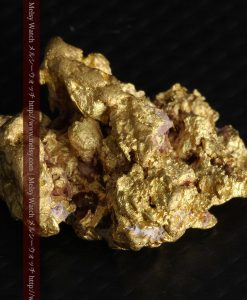 7.45gの自立して飾れる雰囲気の良い自然金-g0252-7