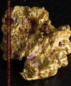 7.45gの自立して飾れる雰囲気の良い自然金-g0252-9