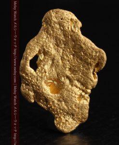 1.99gの薄い板のような平らな自然金-g0260-2