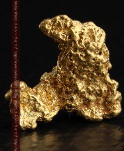 2.3gの低い山のような形状をしている自然金-g0261-1