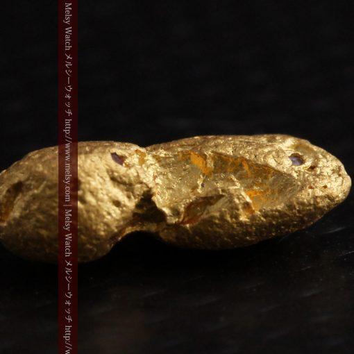 1.48gの豆のような形をした小さな自然金-g0263-8