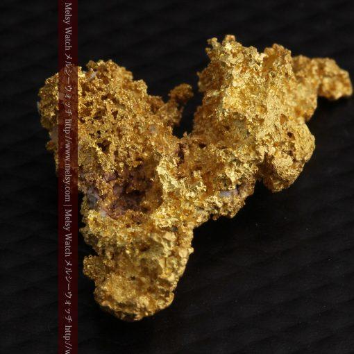 3.4gの非常に繊細な粒子の集まりのような自然金-g0268-12