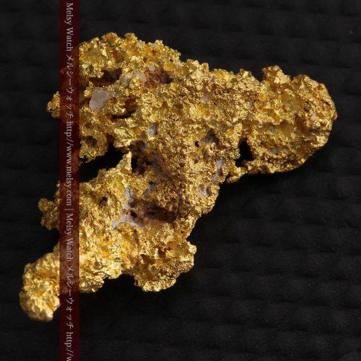 3.4gの非常に繊細な粒子の集まりのような自然金-g0268-7