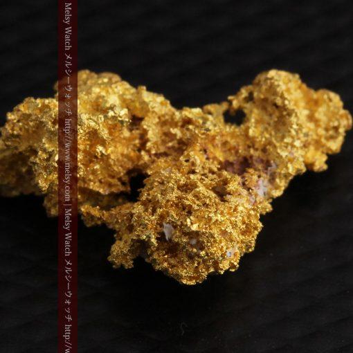 3.4gの非常に繊細な粒子の集まりのような自然金-g0268-8