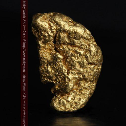 1.34gの物語りのお月さまのような平らな自然金-G0273-1