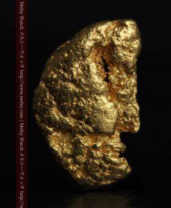 1.34gの物語りのお月さまのような平らな自然金-G0273-2