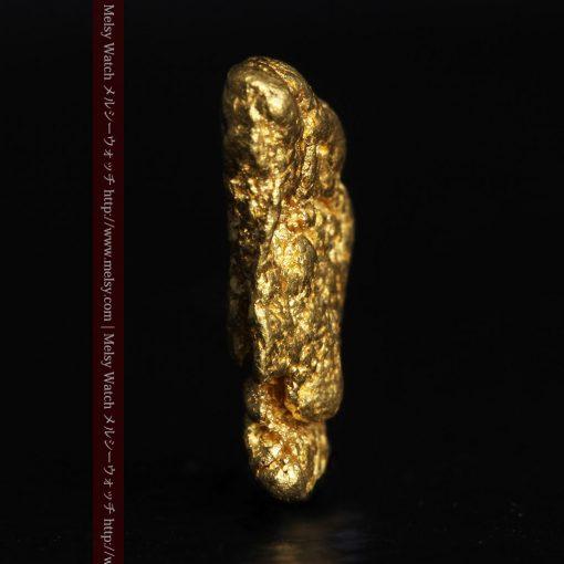 1.34gの物語りのお月さまのような平らな自然金-G0273-3