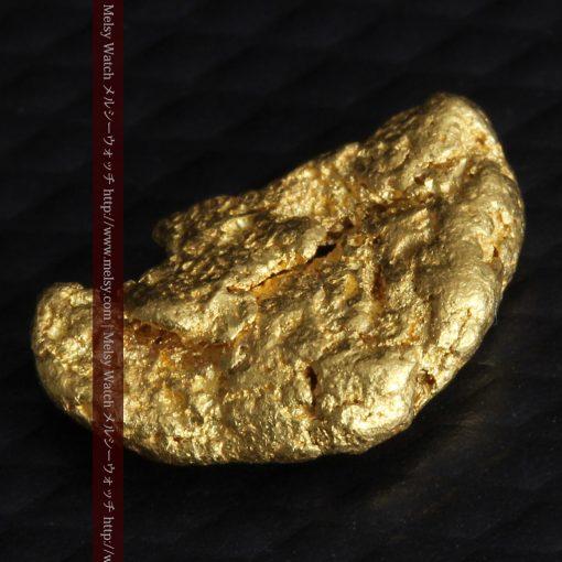1.34gの物語りのお月さまのような平らな自然金-G0273-7