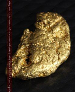 1.34gの物語りのお月さまのような平らな自然金-G0273-9