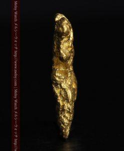 1.54gの半円状の平らな自然金-g0276-3