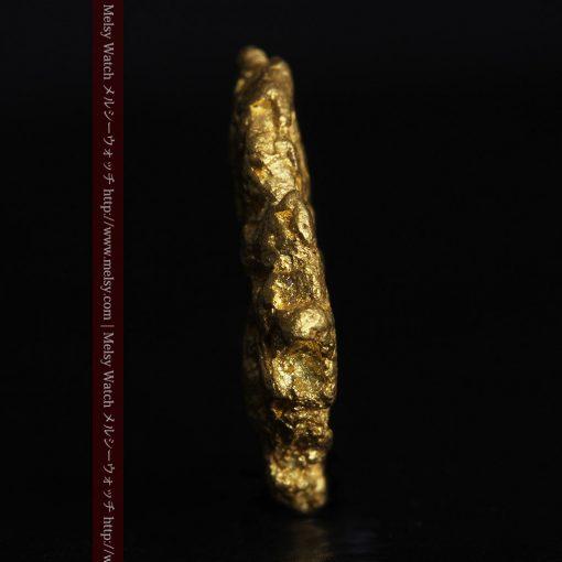 1.54gの半円状の平らな自然金-g0276-4