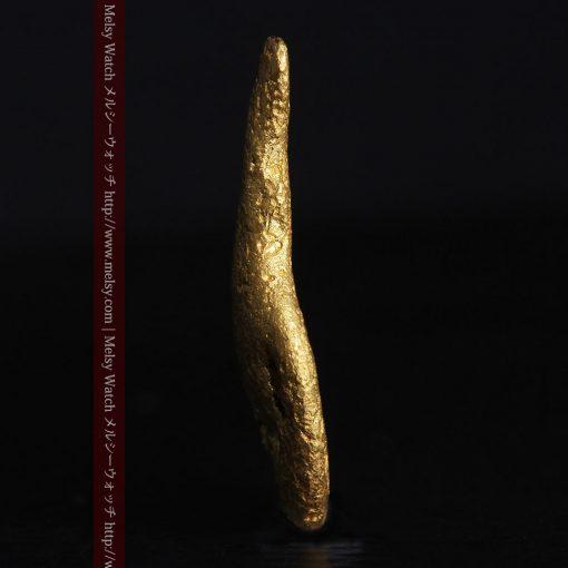 2.45gの瓢箪のような形の愛嬌ある自然金-G0278-3