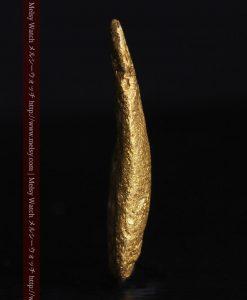 2.45gの瓢箪のような形の愛嬌ある自然金-G0278-4