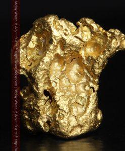 2.83gの綺麗な色合いと厚みのある自然金-g0282-1