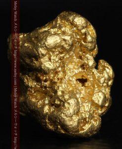 3.6gの立体的で自立する厚みのある自然金-g0284-1