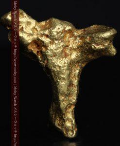4.39gの三つ又の特殊な形の自然金-g0285-2