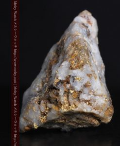 8.11gの三角錐状に先端の尖った金鉱石-g0293-1