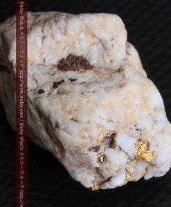 15.65gの大粒の金が見える大きなサイズの金鉱石-g0294-14