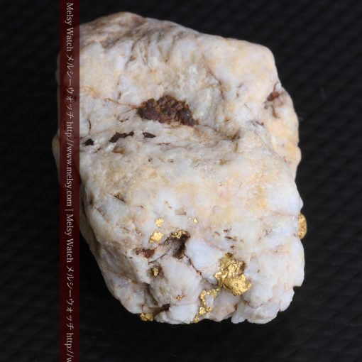 15.65gの大粒の金が見える大きなサイズの金鉱石-g0294-19