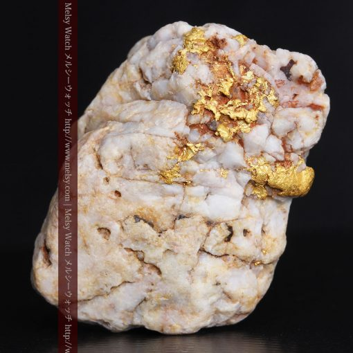15.65gの大粒の金が見える大きなサイズの金鉱石-g0294-5