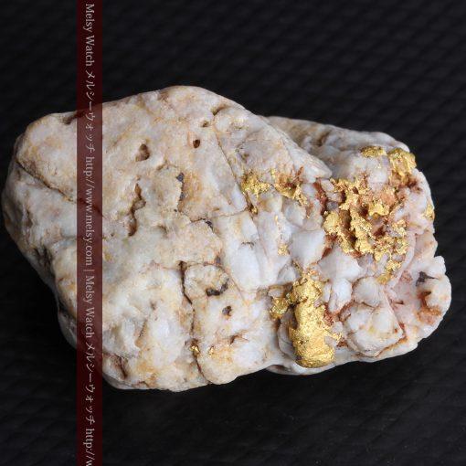 15.65gの大粒の金が見える大きなサイズの金鉱石-g0294-9