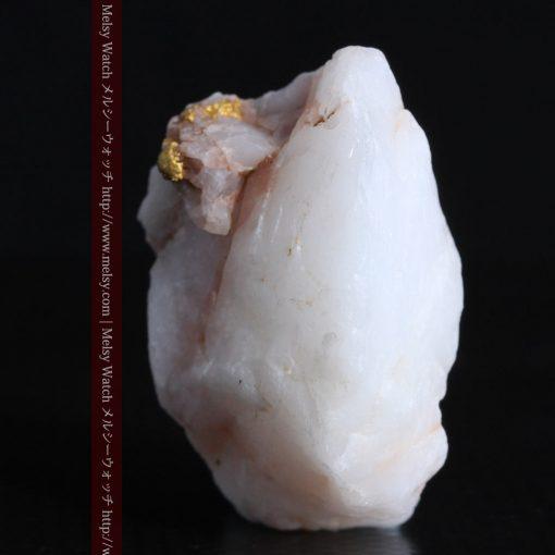 14.43gの厚みのある石英に立体的に付く自然金-g0297-7