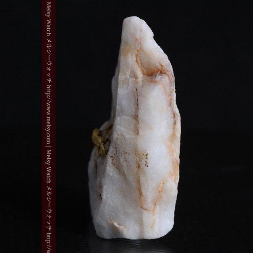 16.91gの大きな石英の中央に鎮座する自然金-g0298-6