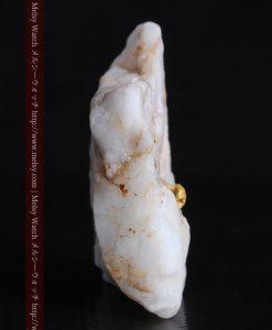 16.91gの大きな石英の中央に鎮座する自然金-g0298-7