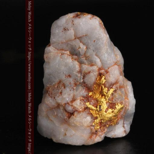 5.34gの石英の中に見える大きな粒と小さな粒の自然金-G0306-3