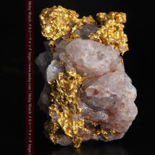 10.77gの小さな粒状の石英と凹凸に富んだ美しい姿の自然金-G0307-1