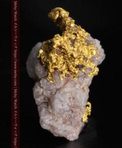 10.77gの小さな粒状の石英と凹凸に富んだ美しい姿の自然金-G0307-4