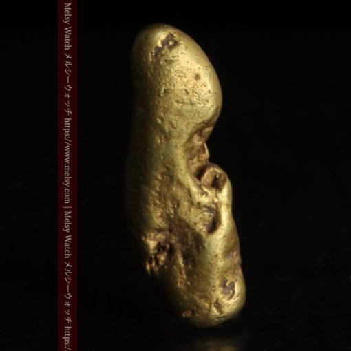 2.09gの細長い豆のような形の自然金-G0310-2