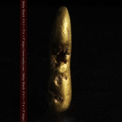 2.09gの細長い豆のような形の自然金-G0310-3