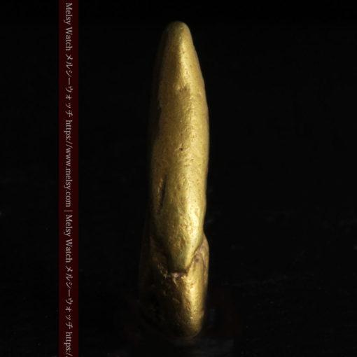 2.09gの細長い豆のような形の自然金-G0310-4