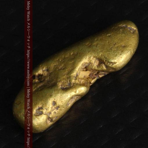 2.09gの細長い豆のような形の自然金-G0310-8