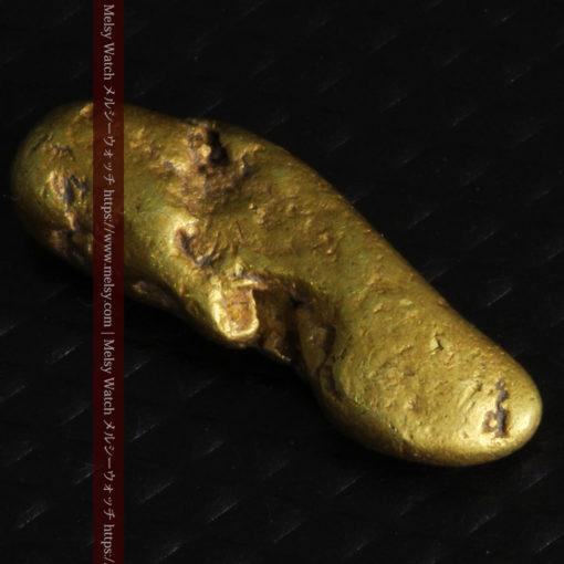 2.09gの細長い豆のような形の自然金-G0310-9