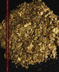 5.1gの小さな砂金と薄片の自然金-G0311-1
