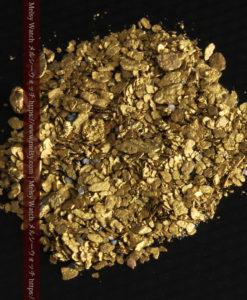 5.1gの小さな砂金と薄片の自然金-G0311-2