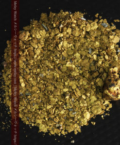 5.1gの小さな砂金・薄片金とやや粒の大きな自然金-G0312-2
