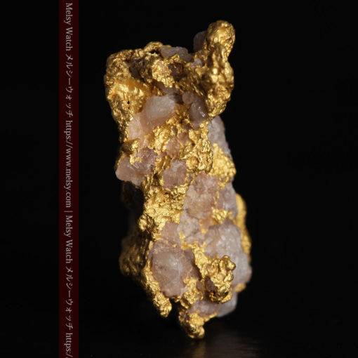 4.12gの小さな石英が混じる雰囲気の良い自然金-G0320-3