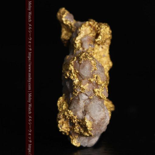 4.12gの小さな石英が混じる雰囲気の良い自然金-G0320-4