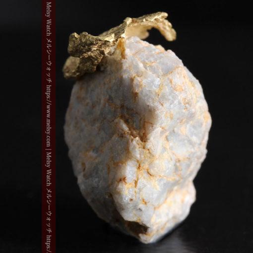 12.03gの非常に珍しいリーフ状のゴールドを冠した石英と自然金-G0327-11