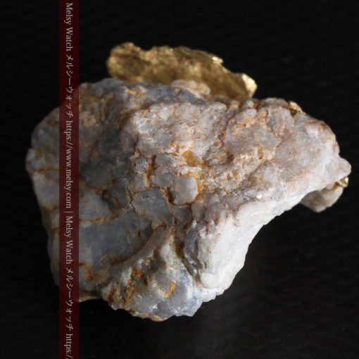 12.03gの非常に珍しいリーフ状のゴールドを冠した石英と自然金-G0327-19