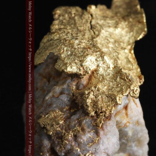 12.03gの非常に珍しいリーフ状のゴールドを冠した石英と自然金-G0327-2