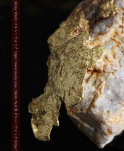 12.03gの非常に珍しいリーフ状のゴールドを冠した石英と自然金-G0327-3