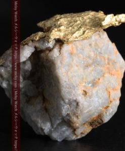 12.03gの非常に珍しいリーフ状のゴールドを冠した石英と自然金-G0327-8