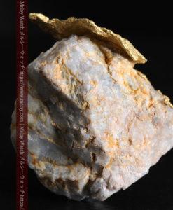 12.03gの非常に珍しいリーフ状のゴールドを冠した石英と自然金-G0327-9