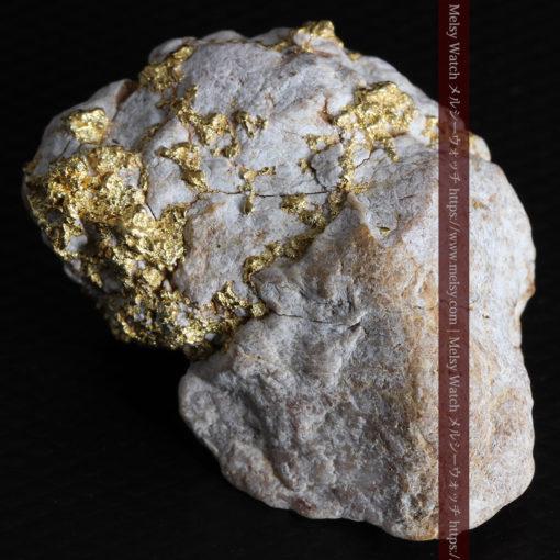 25.75gの石英から染み出るように光る自然金-G0328-10